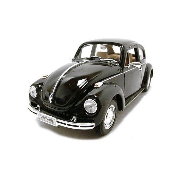 Modelauto Volkswagen Kever zwart 1:24