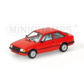 Minichamps Ford Escort III 1981 rood - Modelauto 1:43
