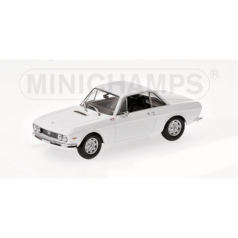 Lancia Fulvia 1600 HF 1970 wit - Modelauto 1:43