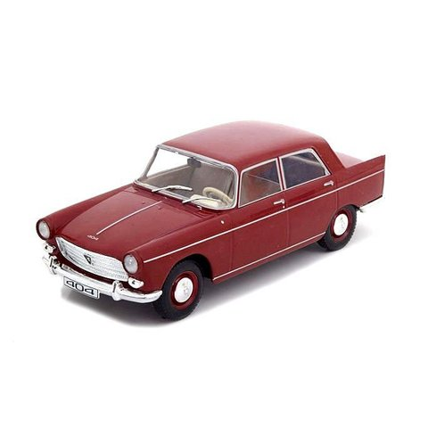 Peugeot 404 1960 donkerrood - Modelauto 1:24