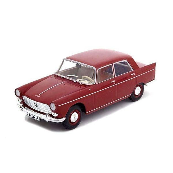 Modelauto Peugeot 404 1960 donkerrood 1:24