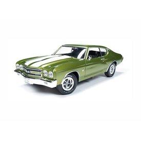 Ertl / Auto World Model car Chevrolet Chevelle SS 1970 green metallic 1:18 | Ertl / Auto World