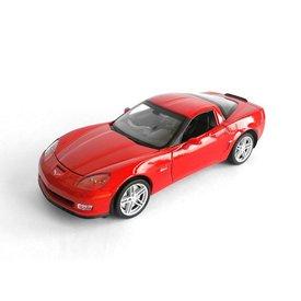 Welly Chevrolet Corvette Z06 2007 red, model car 1:24