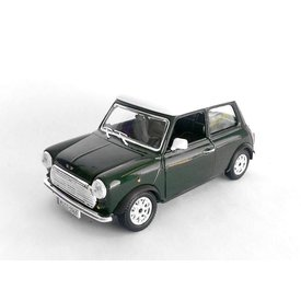 Bburago Mini Cooper 1969 groen/wit 1:24