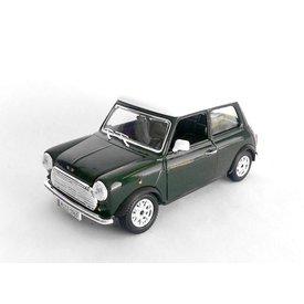 Bburago Mini Cooper 1969 groen/wit - Modelauto 1:24