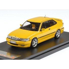 Premium X Modelauto Saab 9-3 Viggen 1999 geel 1:43 | Premium X