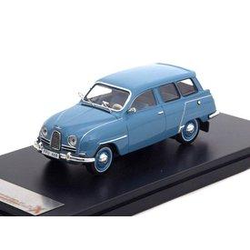 Premium X Modelauto Saab 95 1961 blauw 1:43 | Premium X