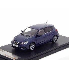 Premium X | Modelauto Nissan Pulsar 2015 donkerblauw 1:43