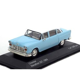 WhiteBox Modelauto Checker Marathon 327 1964 lichtblauw/wit 1:43 | WhiteBox