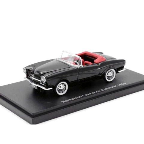 Modelauto Rometsch Lawrence Cabriolet 1959 zwart 1:43
