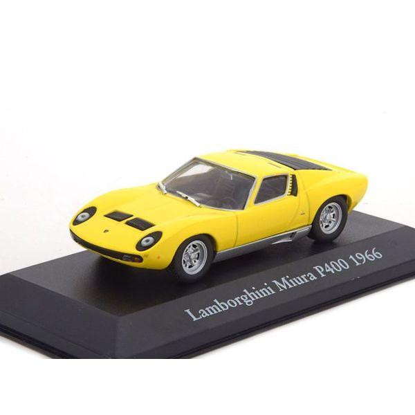 Model car Lamborghini Miura P400 1966 yellow 1:43