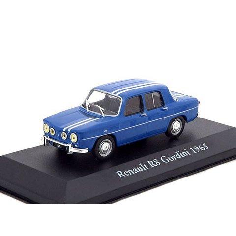 Renault 8 Gordini 1965 blauw/wit - Modelauto 1:43