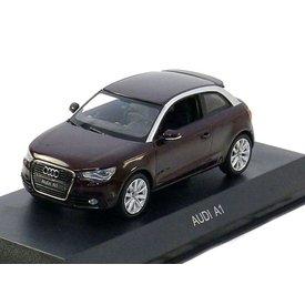 Kyosho Audi A1 2011 donkerrood metallic 1:43