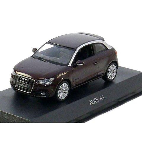 Modelauto Audi A1 2011 donkerrood metallic 1:43 | Kyosho