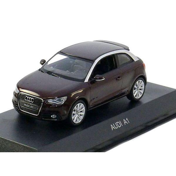 Model car Audi A1 2011 Shiraz red metallic 1:43