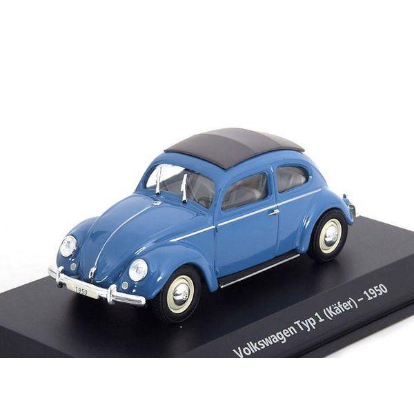 Modellauto Volkswagen Käfer type 1 1950 blau 1:43