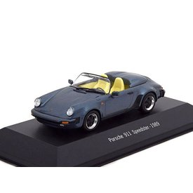 Atlas Modellauto Porsche 911 Speedster 1988 blau metallic 1:43 | Atlas
