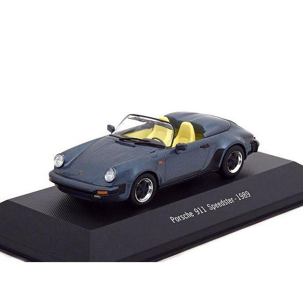 Modellauto Porsche 911 Speedster 1989 blau metallic 1:43