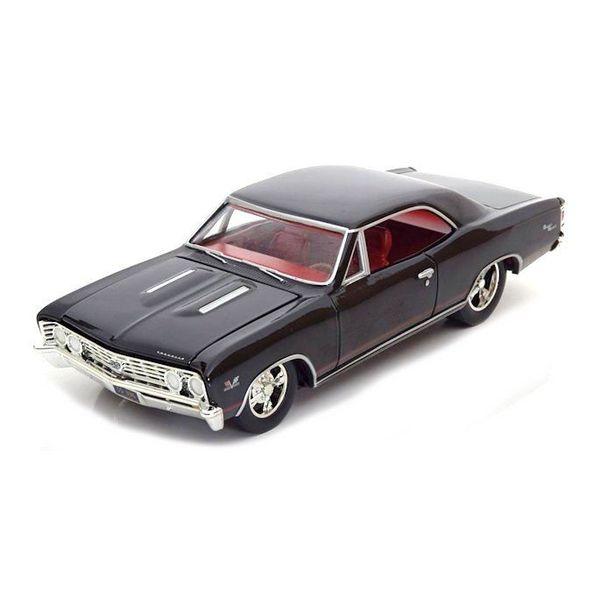 Modellauto Chevrolet Chevelle SS 1967 schwarz 1:24