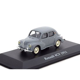 Atlas Renault 4CV 1951 grey - Model car 1:43