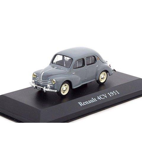 Renault 4CV 1951 grijs - Modelauto 1:43
