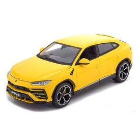 Bburago Lamborghini Urus 2018 geel - Modelauto 1:18