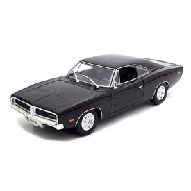 Maisto Dodge Charger R/T 1969 black - Model car 1:18