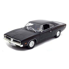 Maisto Dodge Charger R/T 1969 zwart - Modelauto 1:18