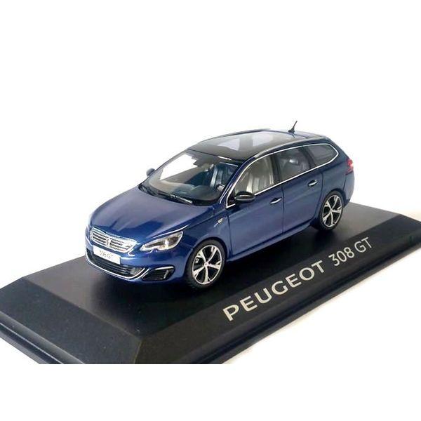 Modelauto Peugeot 308 SW GT donkerblauw 1:43 | Norev