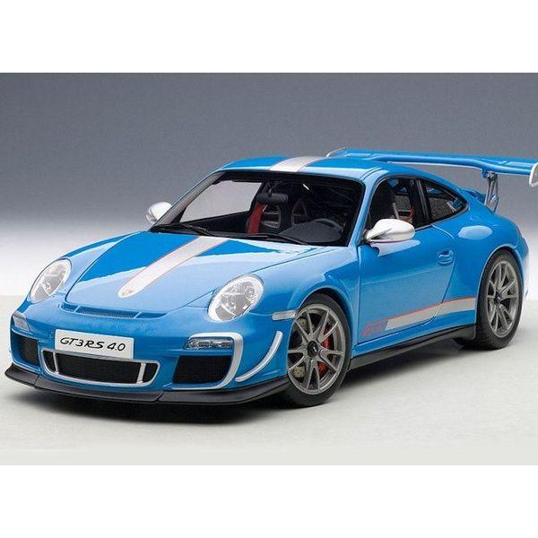 Model Car Porsche 911 997 Gt3 Rs 4 0 Bright Blue 1 18 Autoart