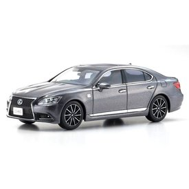 Kyosho Lexus LS460 F Sport grijs metallic - Modelauto 1:43