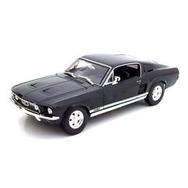 Maisto Ford Mustang GTA Fastback 1967 zwart - Modelauto 1:18