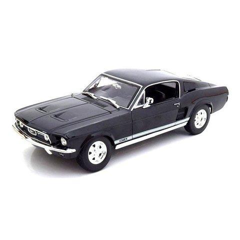 Ford Mustang GTA Fastback 1967 zwart - Modelauto 1:18