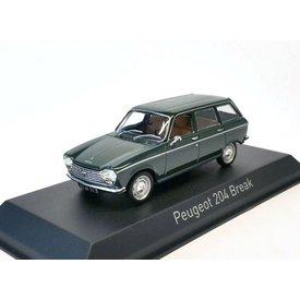 Norev Peugeot 204 Break 1969 dunkelgrün - Modellauto 1:43