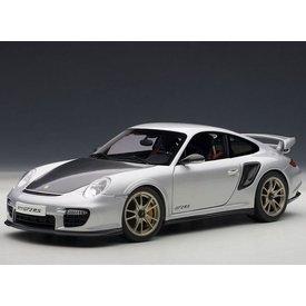 AUTOart Modelauto Porsche 911 (997) GT2 RS zilver 1:18 | AUTOart
