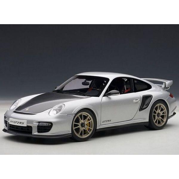 Modelauto Porsche 911 (997) GT2 RS zilver 1:18