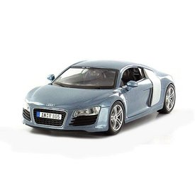 Maisto Audi R8 lichtblauw metallic - Modelauto 1:24