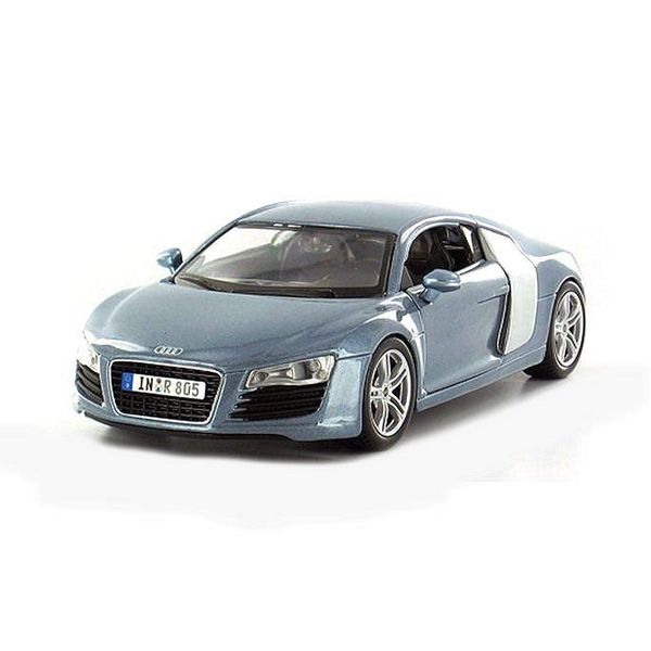 Model car Audi R8 bright blue metallic 1:24 | Maisto