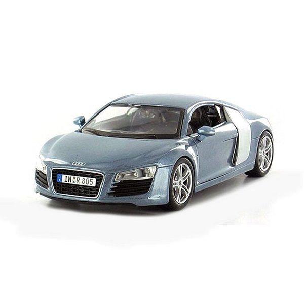 Modellauto Audi R8 hellblau metallic 1:24   Maisto