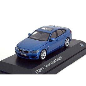 Kyosho Modelauto BMW 4 Serie Gran Coupe (F36) 2014 blauw metallic 1:43 | Kyosho