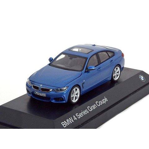 BMW 4 Series Gran Coupe (F36) 2014 blue metallic - Model car 1:43