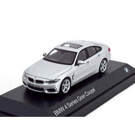 Kyosho BMW 4 Serie Gran Coupe (F36) 2014 zilver - Modelauto 1:43