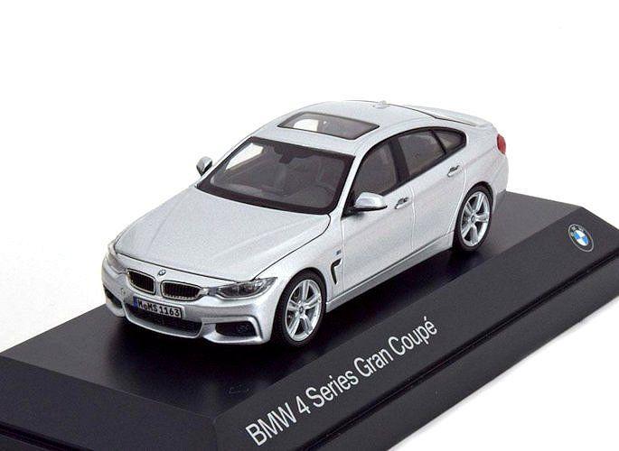 Model Car Bmw 4 Series Gran Coupe F36 2014 Silver 1 43 Kyosho
