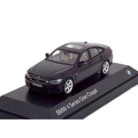 Kyosho Modelauto BMW 4 Serie Gran Coupe (F36) 2014 zwart 1:43 | Kyosho