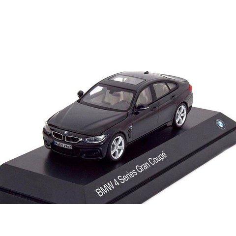 BMW 4 Serie Gran Coupe (F36) 2014 zwart - Modelauto 1:43