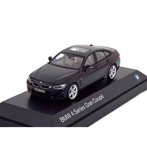 BMW 4 Series Gran Coupe (F36) 2014 black - Model car 1:43