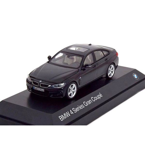 Model car BMW 4 Series Gran Coupe (F36) black 1:43