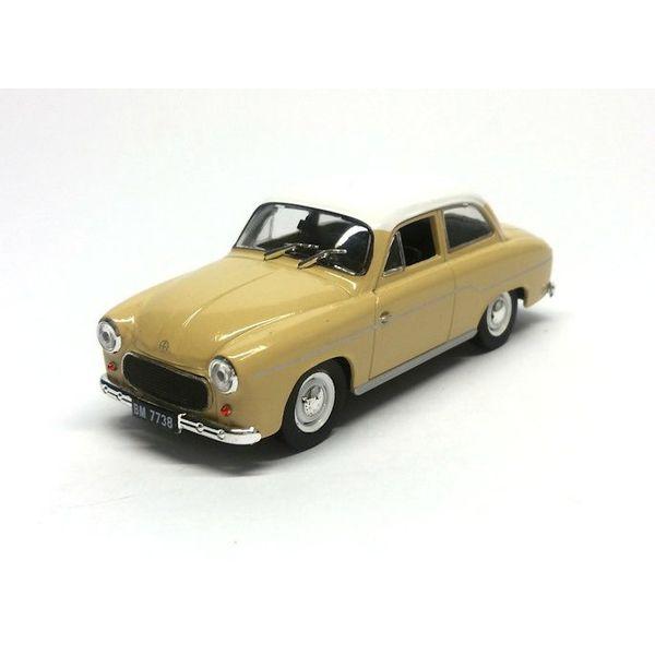 Modelauto Syrena 103 beige/wit 1:43