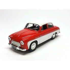 De Agostini Syrena 100 rood/wit - Modelauto 1:43