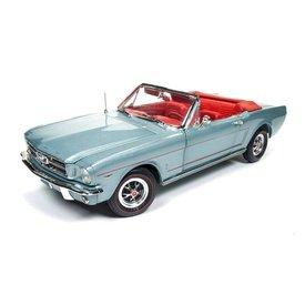 Ertl / Auto World Modelauto Ford Mustang Convertible 1965 blauwgrijs metallic 1:18 | Ertl / Auto World
